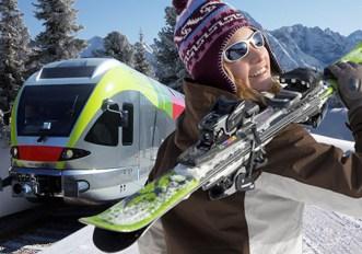 Andare a sciare in treno in Italia