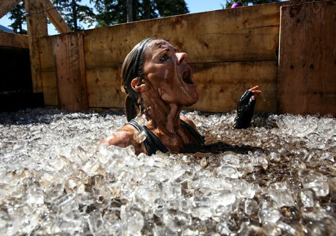 Vasca di ghiaccio Crioterapia Tough Mudder