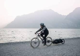 Sentier, lo zaino trolley da bici italiano per fare cicloturismo dappertutto