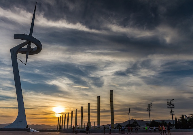 Barcellona, la spianata olimpica del Montjuic - foto Joaquin Aranoa Pixabay
