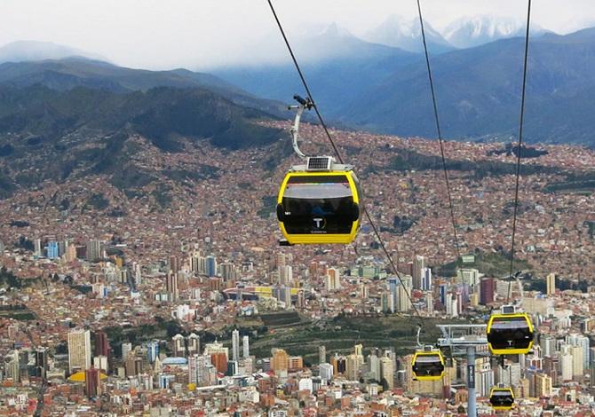 mi teleferico cable car - la-paz - bolivia