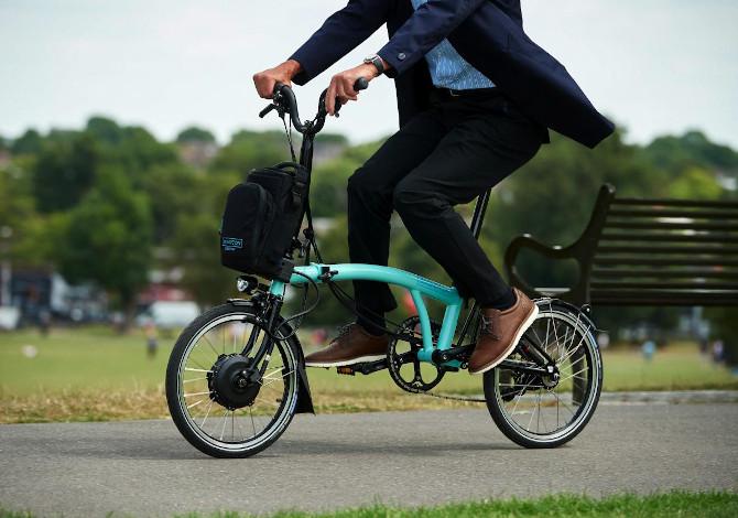 Brompton Bici elettrica pieghevole