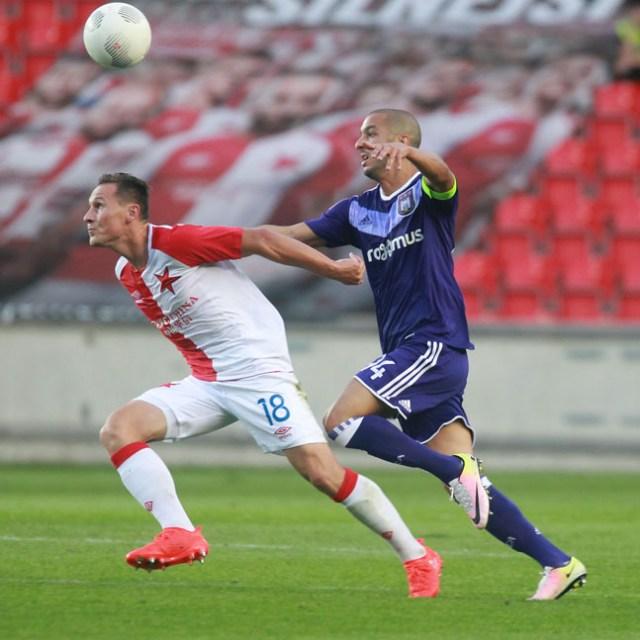 18.8.2016 sport/ fotbal/ evropska liga/ European League/ SK Slavia Praha x rsc anderlecht UEFA EUROPEAN LEAGUE foto CPA