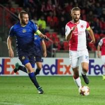 14.9.2017/ Praha / Evropska liga/ Europa League /Sport / fotbal / SK Slavia Praha / Maccabi Tel Aviv FC / FOTO CPA