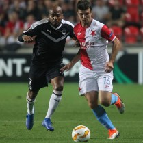 SK Slavia Praha - FC GIRONDINS De Bordeaux Evropska liga Europa League FOTO CPA