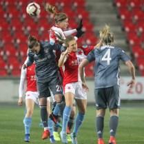 Prague Czech Republic Women,s Ćhampions League SINOBO ARENA SK Slavia Praha. FC Bayern München