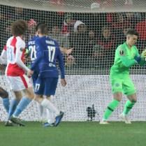 Prague, Czech Republic, Sinobo stadion, UEFA European League Quarterfinals Championship SK Slavia Praha - Chelsea FC