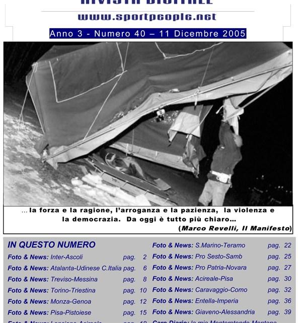 Copertina n° 2005-40