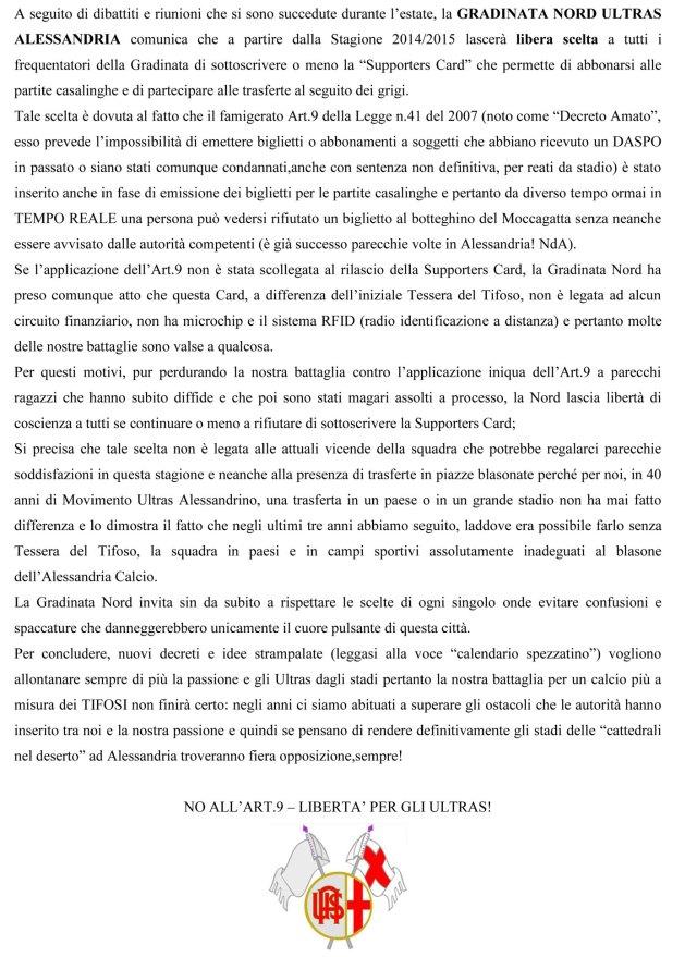 Gradinata Nord Alessandria