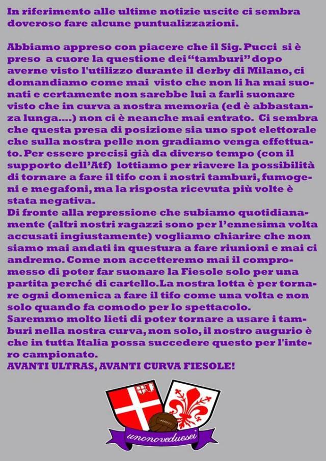 Comunicato 1926 Firenze