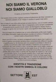 Comunicato Settore Est Verona