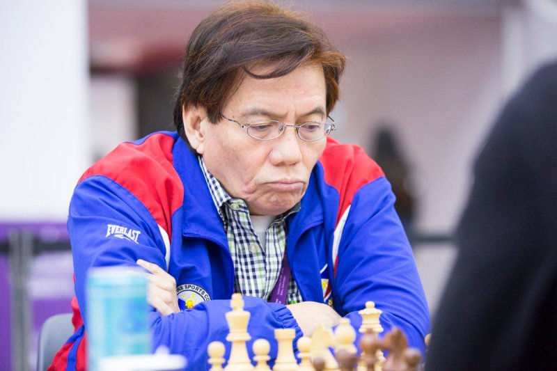 Grandmaster Eugene Torre (Photo via Baku Chess Olympiad Official Twitter Account @bakuchessol2016)