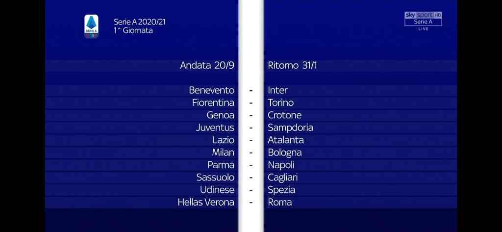 LIVE: Il sorteggio del calendario di Serie A 2020 2021