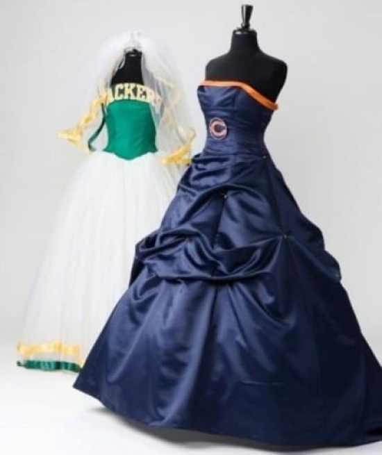 Brides-to-be: Outfit Your Bridemaids In A Bears Or Packers
