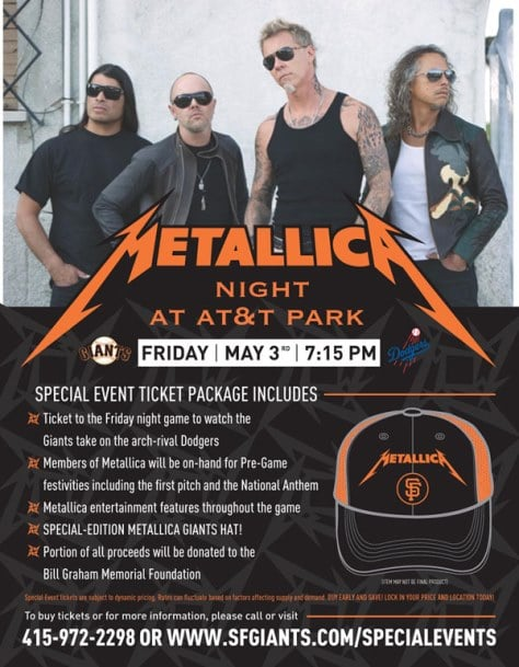 with metallica night at at t park barry zito jammed with band video. Black Bedroom Furniture Sets. Home Design Ideas