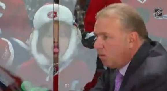 Little Girl Sticks Tongue Out At Montreal Canadiens Head Coach Video