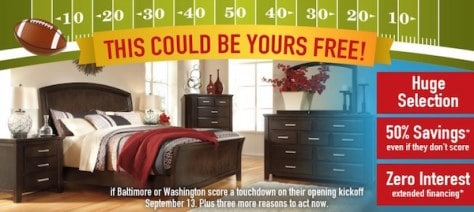A Washington D.C./Baltimore Area Furniture Store Chain Is Running A  Promotion Where If Fans Of The Washington Redskins Or Baltimore Ravens U2014 Or  Anyone For ...