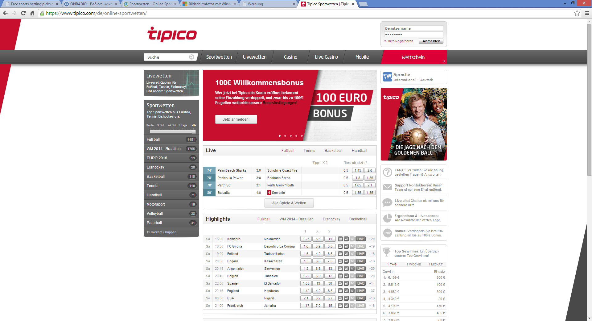 Tipico Bookmaker Review Description