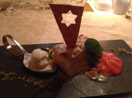 Dessert im Hotel Almhof