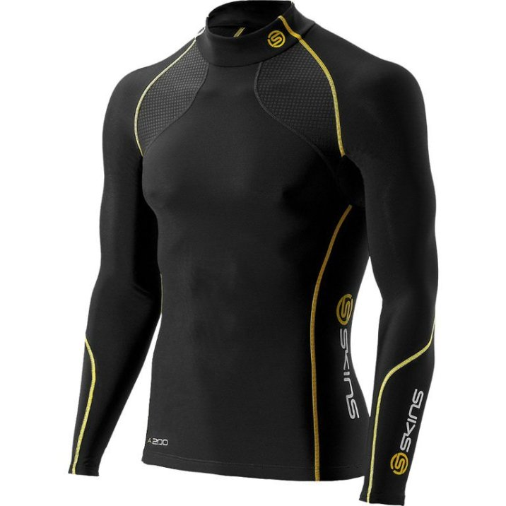 Skins-A200-Mens-Thermal-Long-Sleeve-Compression-Top-Zip-Mock-Neck