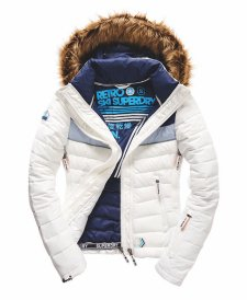 SUPERDRY SNOW - FUJI SNOW EDITION JACKET - ARCTIC WHITE -ú124.99