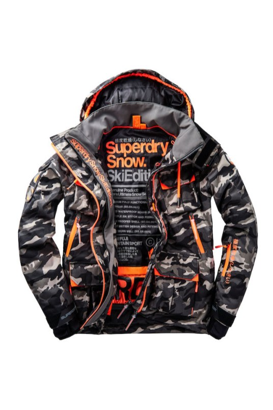 SUPERDRY SNOW - ULTIMATE SNOW SERVICE JACKET - CAMO