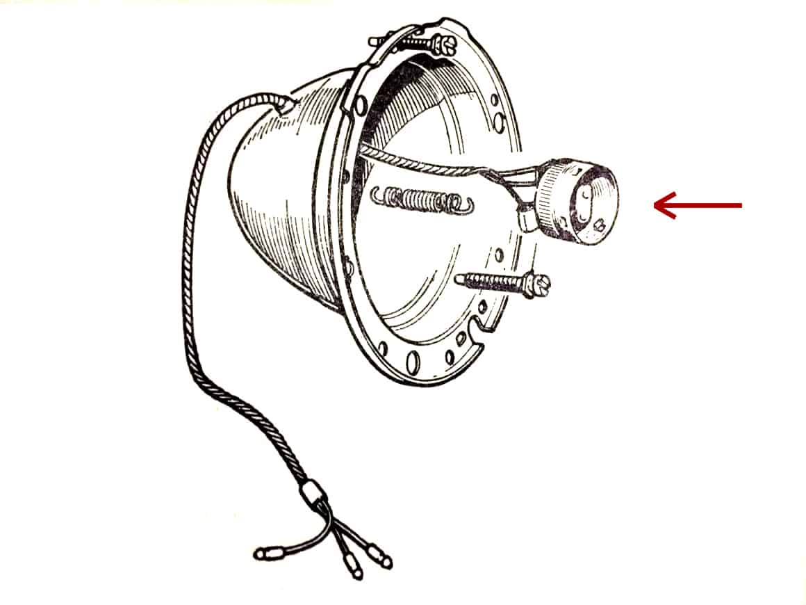 Morgan Plus 4 4 4 Lucas Headlamp Bulb Adapter