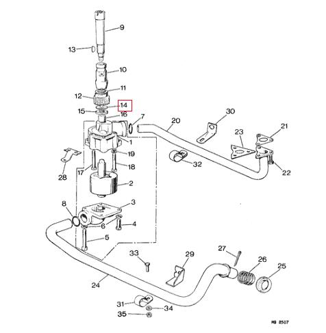 Jaguar XKE XJS XJ6 Oil Pump Gear Lock Washer NOS C2151