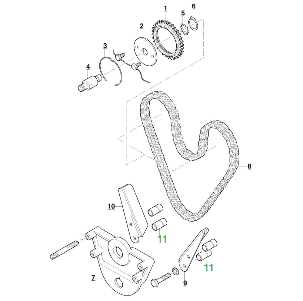 Jaguar Timing Chain Guide Distance Piece NOS C21734