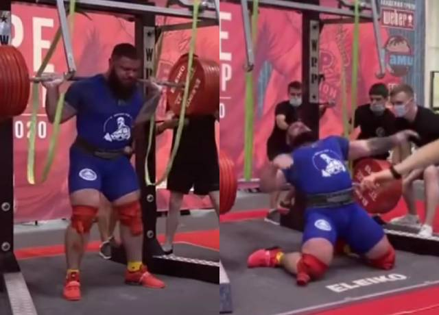 Russian powerlifter fractures both knees as attempt to squat 400kg
