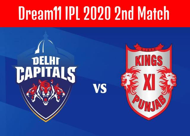 Dream11 IPL : 2nd match DC vs KXIP Live streaming & score