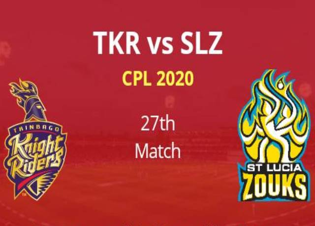 CPL 2020, 27th Match : TKR vs SLZ live score & streaming