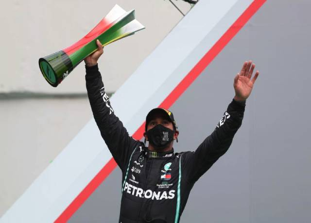 Lewis Hamilton took over Michael Schumacher's record with 92nd F1 wins