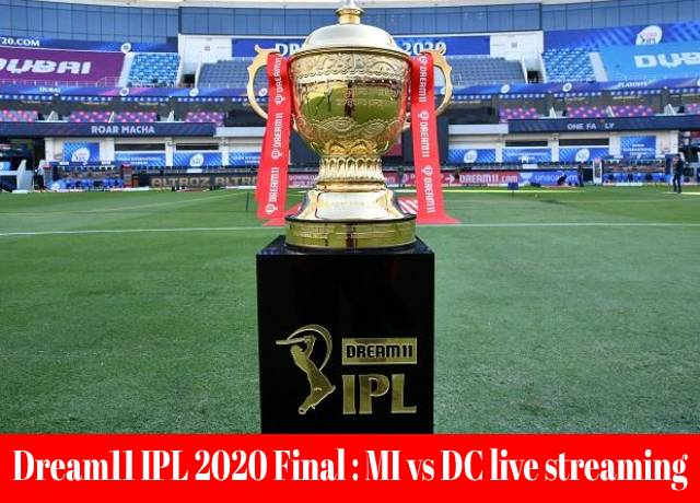 Dream11 IPL 2020 Final : MI vs DC live streaming & score