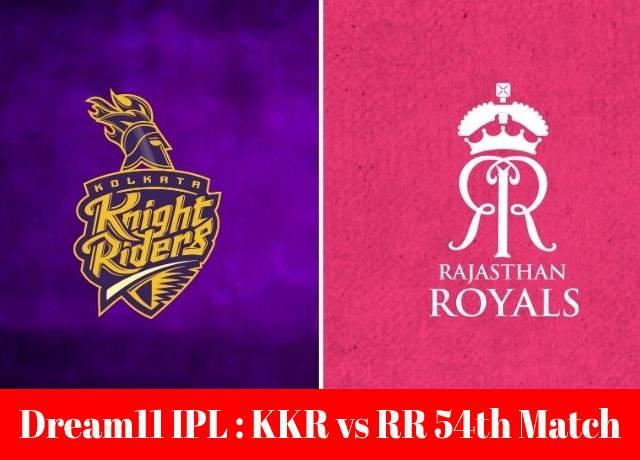 Dream11 IPL : KKR vs RR 54th match live streaming & score
