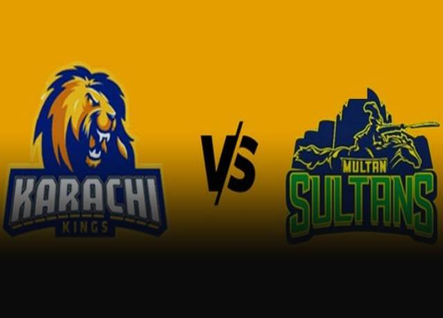 PSL 2021 : Karachi Kings vs Multan Sultans, 9th match live score & streaming