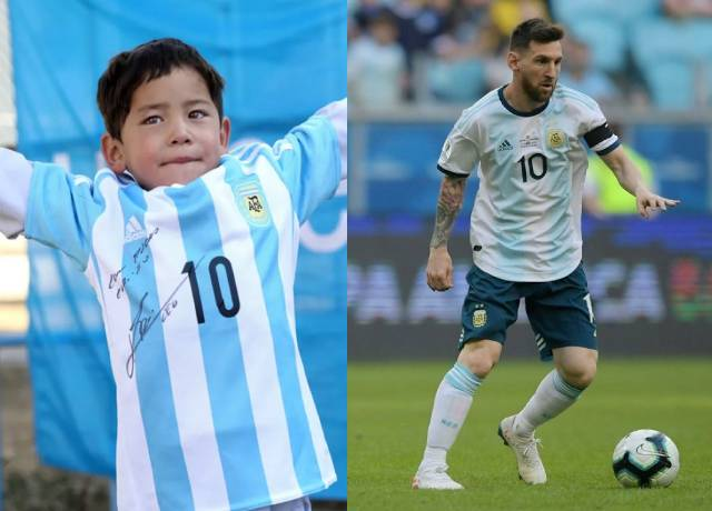 Mortaza was overwhelmed to meet Leo Messi