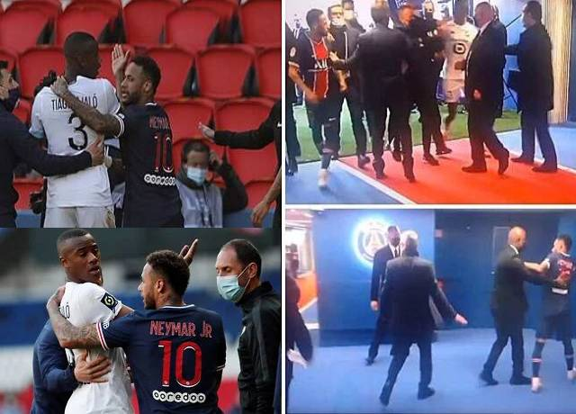 Neymar got frustrated after sending off the pitch