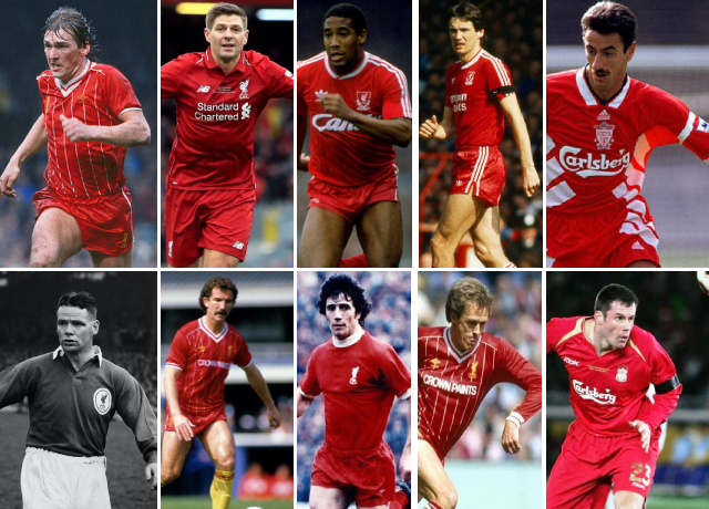 Top 10 greatest Liverpool players of all time