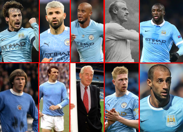 Top 10 greatest Manchester City players of all time