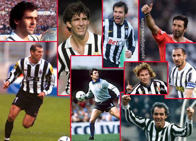 Top 10 greatest Juventus players of all time