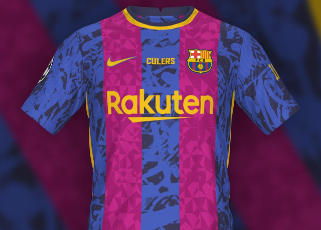 Barca's 2021-2022 Champions League kit leaked