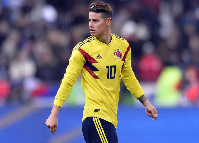 James Rodriguez ruled out of the Copa America squad