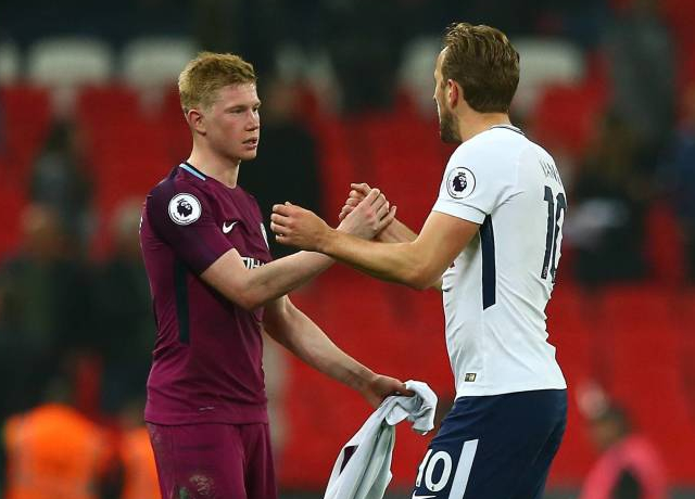 Harry Kane on Kevin De Bruyne: He's an outstanding player with the ball
