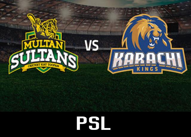 PSL 2021 : Multan Sultans vs Karachi Kings, 16th Match live score & streaming