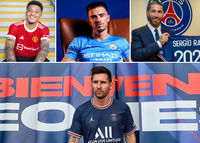 Top Transfers of the 2021 Summer Transfer Period in Football