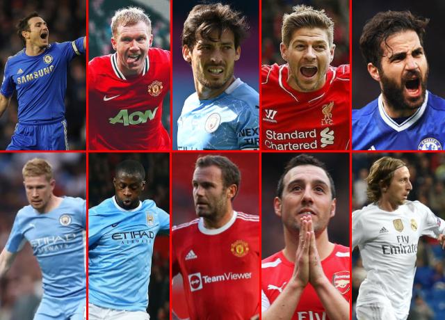 Top 10 Greatest Attacking Midfielders in Premier League History