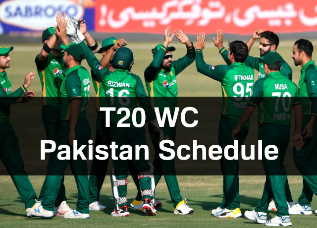 T20 World Cup: Pakistan Schedule, Squad, Time & Date