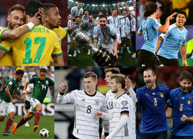 Top 10 National Teams With Most International Trophies