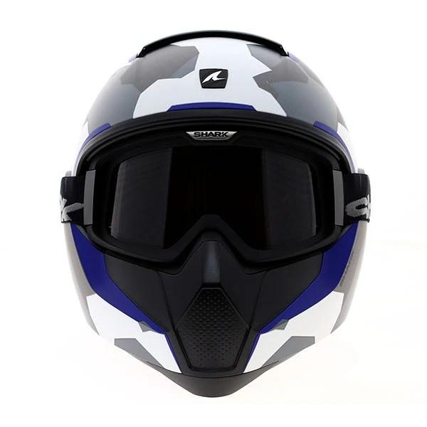 Shark Vancore Wipeout Motorcycle Motorbike Helmet - Matt Urban Camo / Blue   eBay
